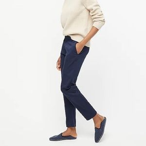 J Crew cropped navy chino size 4